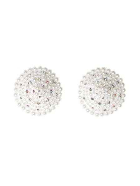 Coquette: Pearl Round Pasties, weiß