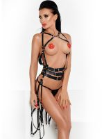 MeSeduce Scarlett: Harness-Kleid, schwarz