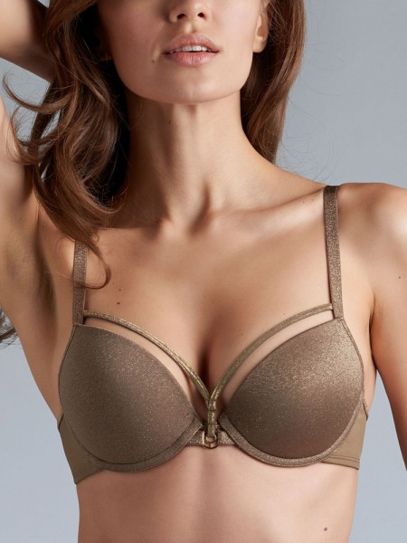 Marlies Dekkers Space Odyssey: Padded Push-Up BH, gold and shitake
