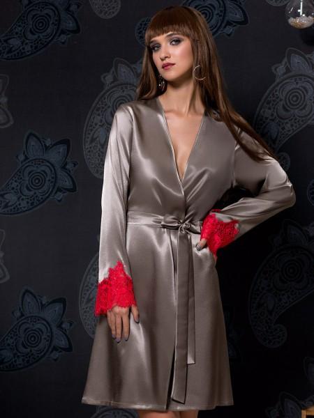 COEMI Soho: Kimono, grau/rot