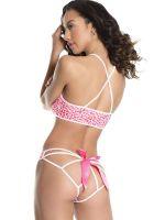 Coquette Elite Dessousset: Heart print, pink/weiß