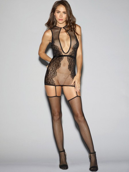 Dreamgirl Strapskleid, schwarz