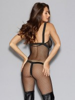 Dreamgirl Ouvert-Catsuit mit Harness, schwarz