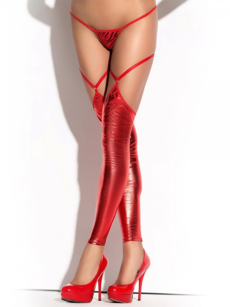 MeSeduce Wetlook-Stulpen ST10, rot