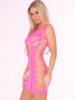 Pink Lipstick Minikleid: Full Of Shred, pink