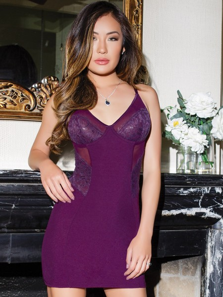 Coquette Chemise: Pleasurably, plum
