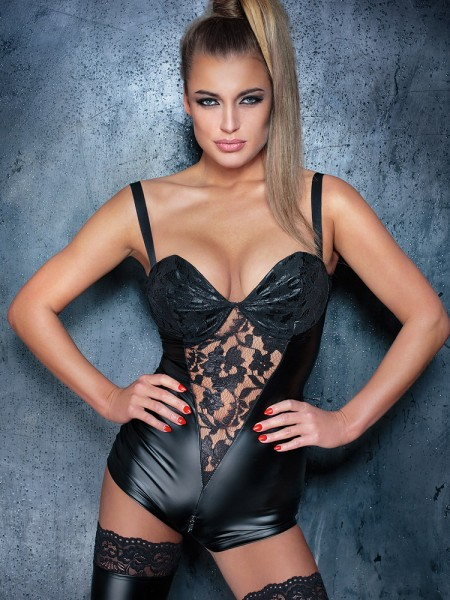Noir Handmade: Wetlook-Body, schwarz