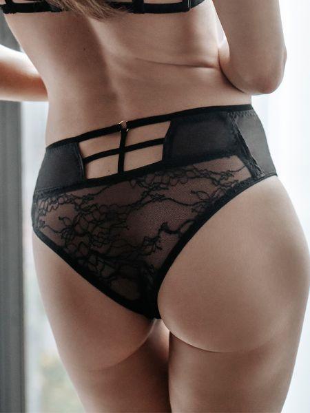 Petite Noir: Spitzen-Slip 0918, schwarz