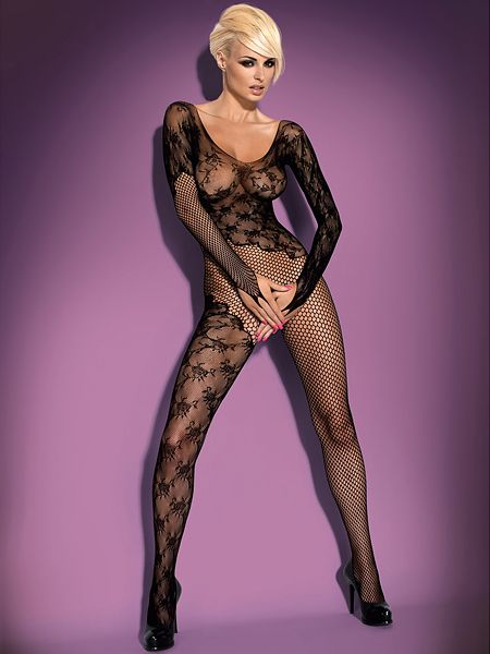 Obsessive F210: Ouvert-Catsuit, schwarz